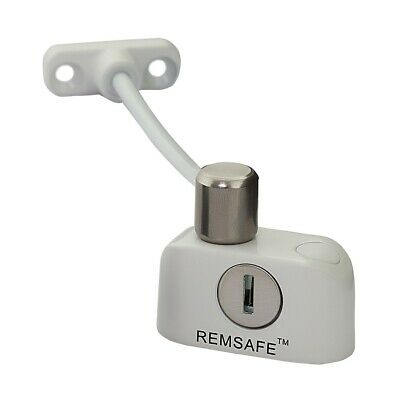 Remsafe Window Restrictor Safety Device Key Lock Child Safe 125mm Limit White
