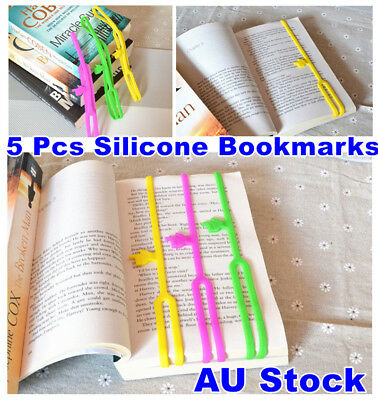 3 x Silicone Bookmarks Note Pad Memo Stationery Book Mark Novelty Funny Gift