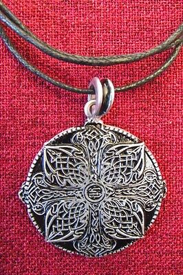 Celtic Endless Knot Pendant Irish Amulet Iona Celt Silver Plated Necklace