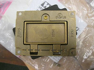 Wiremold  Brass GFI Receptacle Cover  828GFITC  No Hardware  New Surplus