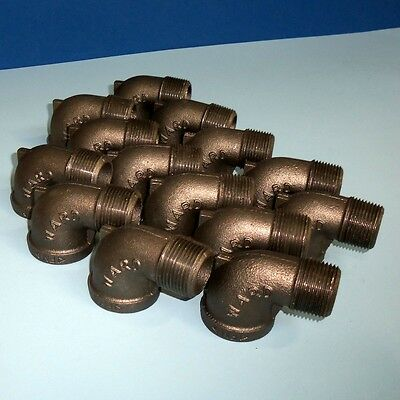 "Ward 1"" Malleable Iron Elbow Fittings, Nnb Lot Of 14"