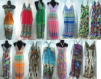 US SELLER-6 wholesale bulk lot retro long dress resort wear casual maxi dresses