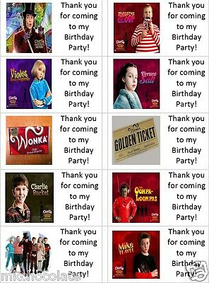 A1 Size Personalised Willy Wonka Charlie and the Chocolate Factory Selfie Frame