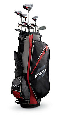 New Callaway Golf Strata 13 Piece Complete Right Hand Men's Set With Bag