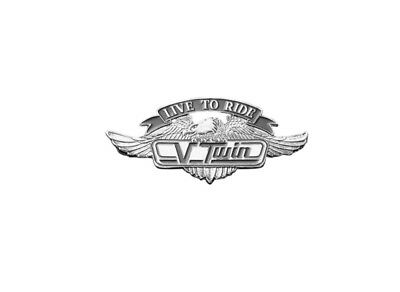 Highway Hawk Live To Ride V/twin Emblem Complete Self Adhesive 55Mm Wide Bc187-T