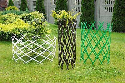 Garden Fence Extensible Palisade Lawn Boarder Edge Hammered Plastic 2m BJPRB