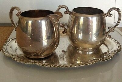Vintage Wm. Rogers Silver Creamer And Sugar Bowl Set 103 104 Antique Dinnerware