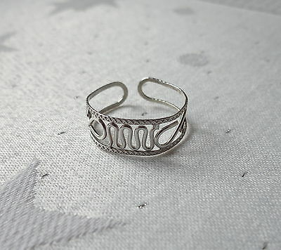 Wire Design Toe Ring 925 Sterling Silver