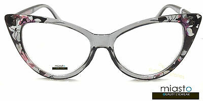 Nwt$39.99 Miasto Womens Vintage Big Cat Eye Sexy Reader Reading Glasses Specs
