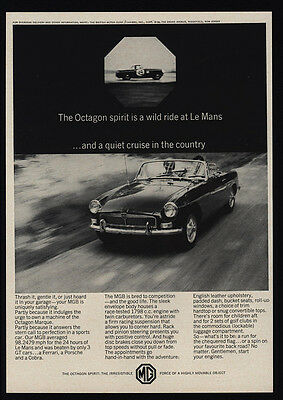 1964 MG MGB Convertible Sports Car - Octagon - Le Mans - VINTAGE AD