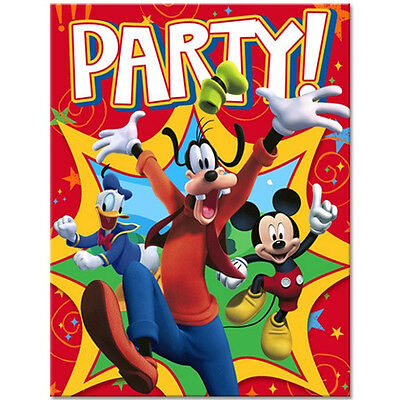 MICKEY MOUSE CLUBHOUSE ~ (8) Invitations & envelopes ~ Birthday Baby Party