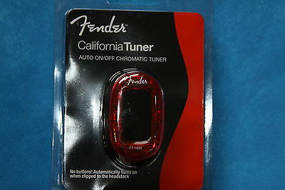Fender California Clip-On Chromatic Tuner,Auto On/Off, Red, FT-1620, 239981009