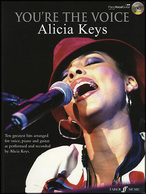 You're the Voice Alicia Keys Piano Vocal Guitar Sheet Music Book & Sing-Along CD
