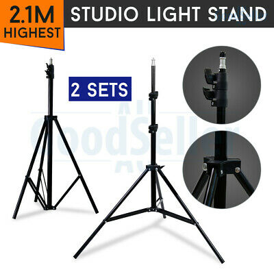 2x 7Ft Light Stand Tripod For Photography Lighting Studio Boom Umbrella Softbox