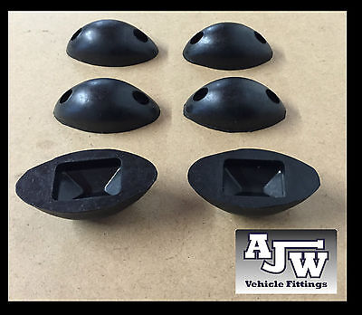 6 X Rubber Mouse Buffer Oval Black Truck Trailer Horsebox Tipper Tail Board
