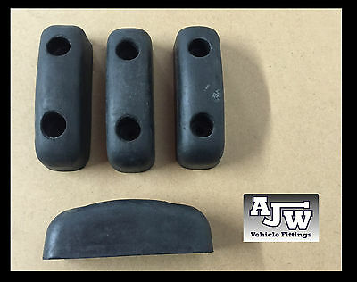 "4 X Rubber Buffer 127mm 5"" Truck Trailer Dropside Horsebox Tailboard HGV Bumper"