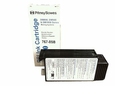 Original Pitney Bowes DM800 DM900 DM1000 BLUE Franking Ink Cartridge - 767-8SB