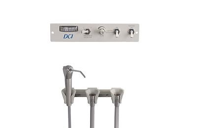 DCI Panel Flush Mount Manual Control Dental Delivery Unit 2 Handpiece & Syringe