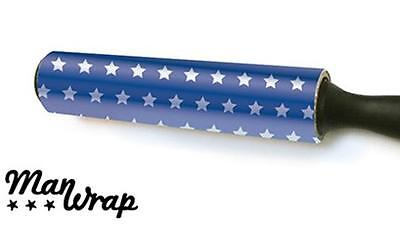 EASY WRAP simple wrapping foil gift paper self sealing NO TAPE NEEDED red blue