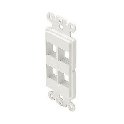 Eagle 4 Port Keystone Wall Plate Light Almond QuickPort Flush Mount Easy A//V