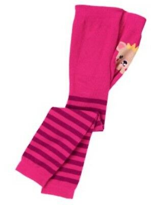 GYMBOREE SWEET MUSIC PINK STRIPE w/ BEAR FASHION BOTTOM TIGHTS 6 12 24 2 3 4 5