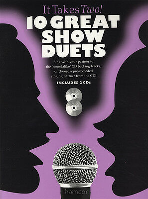 10 Great Show Duets Piano Vocal Guitar Music Book & 2CDs