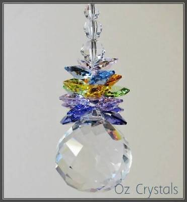 40mm Crystal Ball Cluster Suncatcher Made with Swarovski Crystal Octagons, Beads