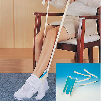 Terry Cloth Easy Pull Sock Aid Stocking Helper Puller Disability Dressing Aid
