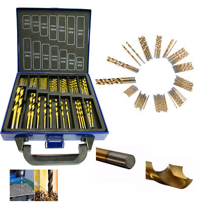 SET 99 PUNTE ASSORTITE PER TRAPANO HSS DORATE IN TITANIUM 1.5mm - 10mm VALIGIA