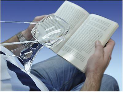 """Hands Free Around Neck Magnifying Glass 4"""" - Magnifier for Knitting / Reading"""