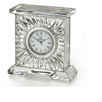"Waterford Crystal Medallion 3"" Clock 140783 12-Hour Display Home Office/Study"