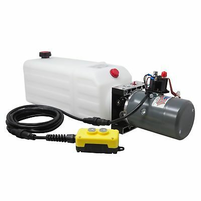 Single Acting Hydraulic Pump for Dump Trailers KTI - 12 VDC - 8 Quart Reservoir