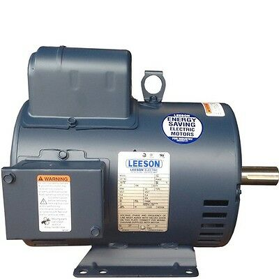 5 Hp Electric Motor For Compressor 3600 56 1 Phase New