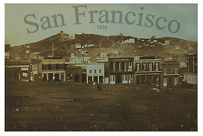 "1850 View SAN FRANCISCO, California, 16""x11"" Photo, print, vintage antique lover"