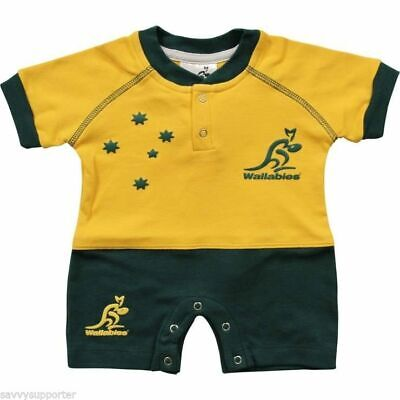 Australian Wallabies Short Footysuit 'Select Size' 000-3 Infant Toddler Jersey