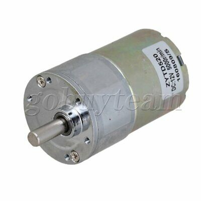 New Reversible 12V DC 200 RPM Gear-Box Speed control Electric Motor 37mm Dia