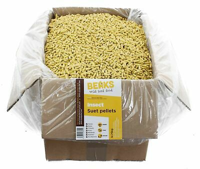 Insect suet fat pellets for wild garden bird feeding 12.75kg