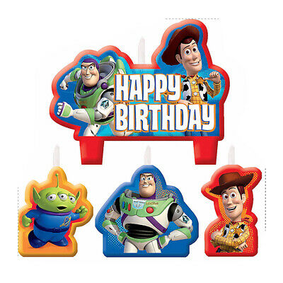 Toy Story Party Supplies Candle Mini Moulded Pack Of 4