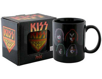 KISS: Four Faces Ceramic Coffee / Tea Mug - New & Official In Display Box