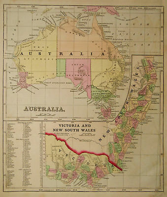 1856 Genuine Antique map of Australia. by C. Morse