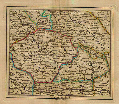 1761 Genuine Antique miniature map of southern Germany & Austria. by A. Dury