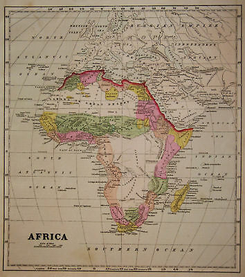 1856 Genuine Antique map of Africa. by C. Morse
