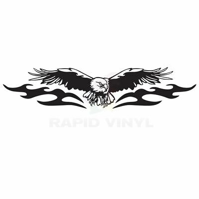 AMERICAN EAGLE FULL WING Car Truck Boat RV Decal, Window Sticker, Window Decal