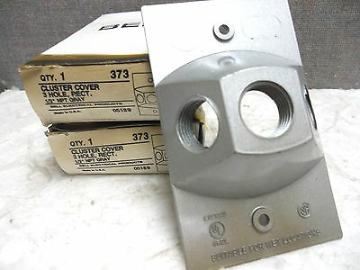 Lot Of 2 Bell 3-Hole Cluster Covers 373 New-No Gasket 373