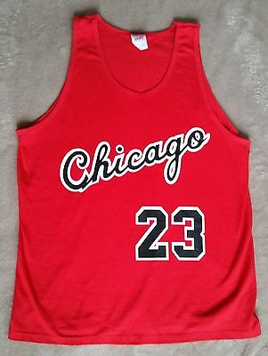 Chicago Bulls Michael Jordan Rookie year vtg style Jersey Tank top / t-shirt