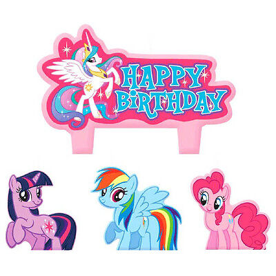 My Little Pony Birthday Party Supplies Candle Mini Moulded Pack Of 4