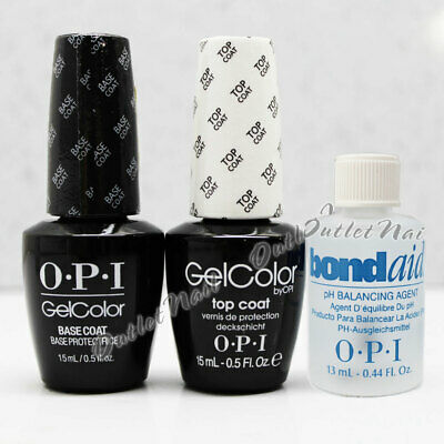 OPI GelColor Kit 3 pc - BASE + TOP + 0.5oz pH BOND AID Soak-Off Gel Lacquer Coat