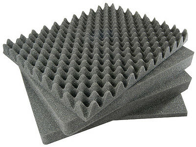 4 Piece Pluck Replacement foam set for Pelican 1550 Top, 2 middle PLUCK, Bottom