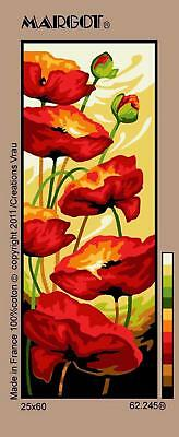 Margot de Paris Tapestry/Needlepoint Canvas – Poppies in the Wind