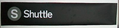Small 1980s Helvetica New York Subway Sign Red Bird R17 Shuttle Times Sqaure